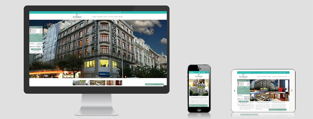 Website redesign for Le Palace Hotel