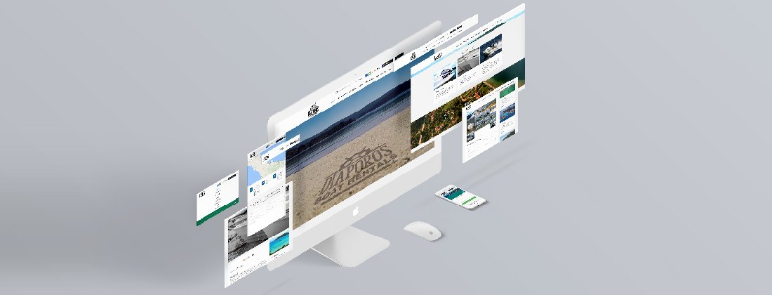 Diaporos Boat Rentals website development